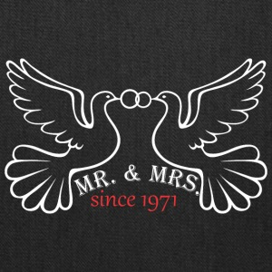 Mr And Mrs Since 1971 Married Marriage Engagement - Tote Bag