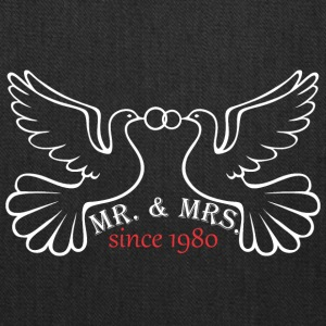 Mr And Mrs Since 1980 Married Marriage Engagement - Tote Bag