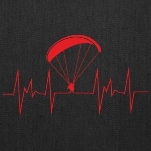 heartbeat paragliding - Tote Bag