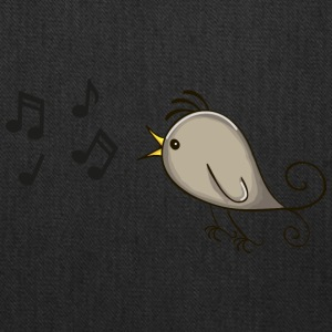 bird singing music notes romantic - Tote Bag