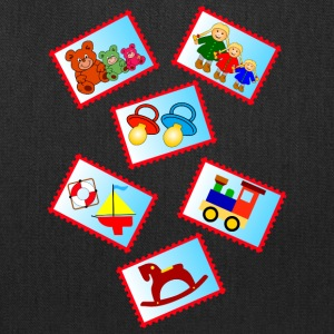 stamps with toys - Tote Bag