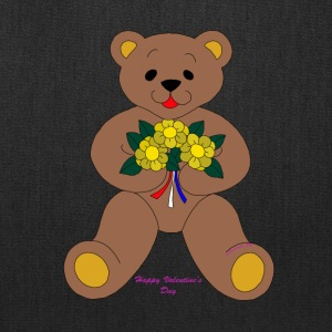 Bear with flowers Valentine's Day - Tote Bag