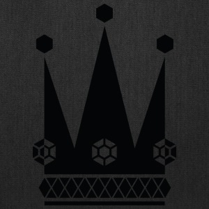 Ornate-black-king-royal-crowns-vector-picture - Tote Bag