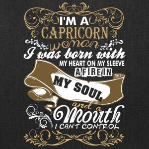 Im A Capricorn Woman I Was Born With My Heart - Tote Bag