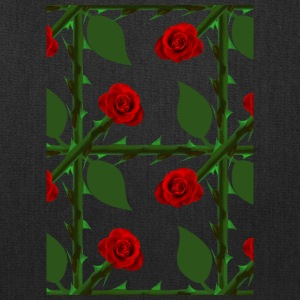 Red Rosen Pattern - Tote Bag