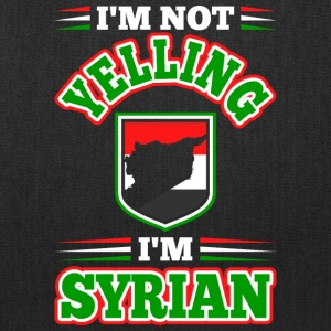 Im Not Yelling Im Syrian - Tote Bag