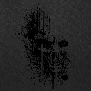 Grunge_skull_black - Tote Bag