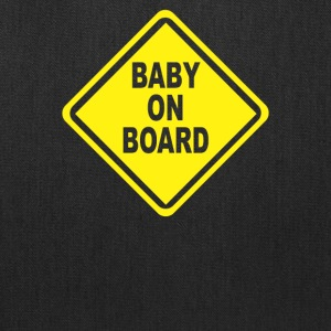 Baby On Board Bumper Sticker Decal Safety Cute Fun - Tote Bag
