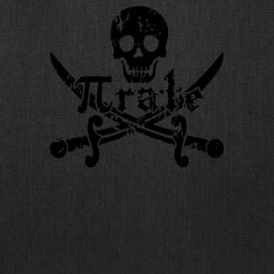 Pirate Skull and Crossbones Math Pi Rate - Tote Bag