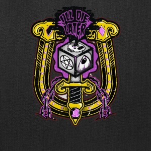 Skull I'LL Die Later - Tote Bag