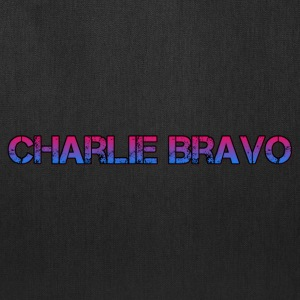 Charlie Bravo Plain Text - Tote Bag