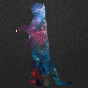 black_cat_on_back_legs_galaxy - Tote Bag