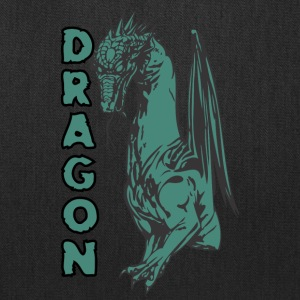 sitting_dragon_with_thorms_color - Tote Bag