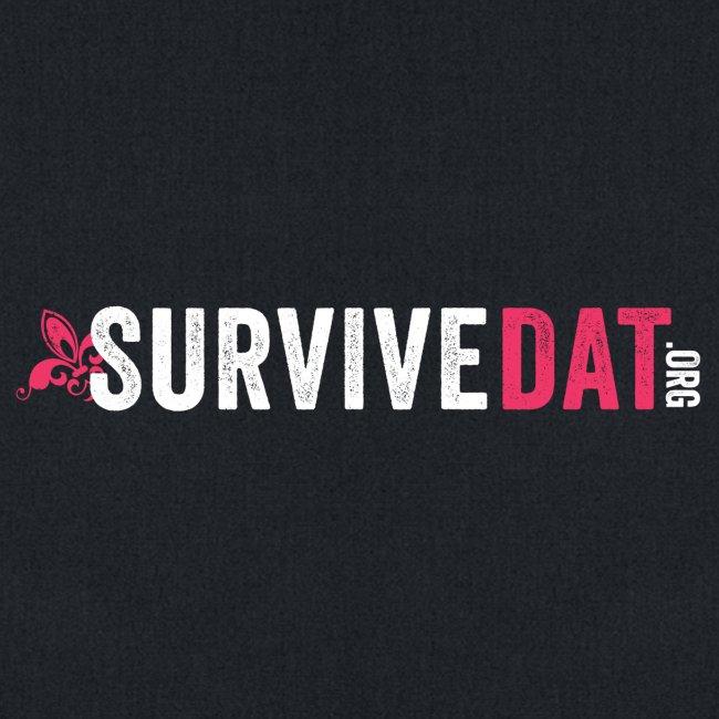 survive dat final logo horizontal pink white notag