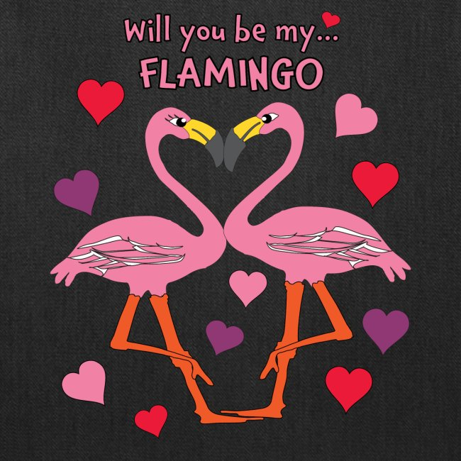 Will You be my Flamingo Valentine Kisses