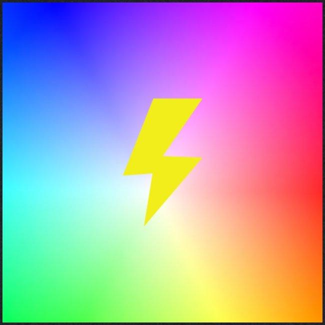 Rainbow lightning t-shirt
