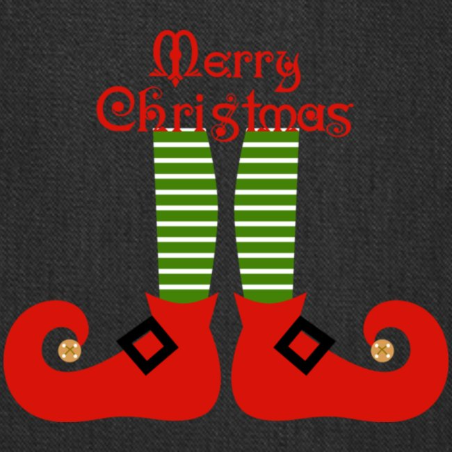 Elf Feet Merry Christmas Design