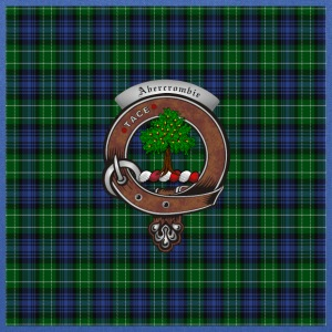 Abercrombie Clan Badge with Tartan - Tote Bag