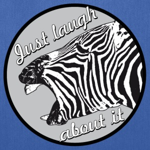 zebra laugh abaout it - Tote Bag