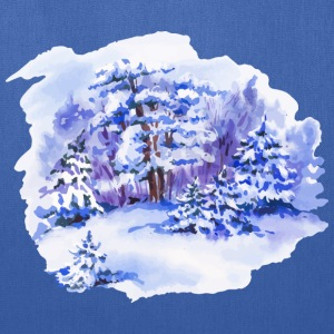 winter-landscape-drawing-painting-watercolor - Tote Bag