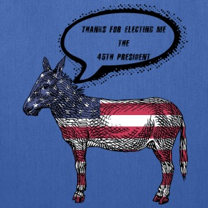 Funny American Flag Donkey Anti 45th President - Tote Bag