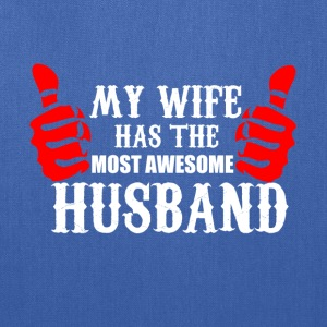 Wife and Husband funny shirt - best husband - Tote Bag