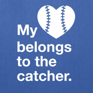 My heart belongs to the catcher. - Tote Bag