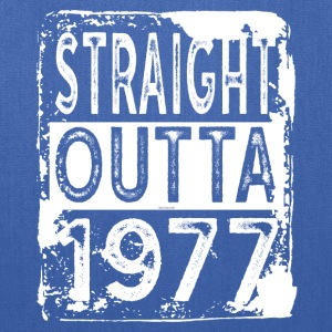 Funny 40th Birthday Gift: Straight Outta 1977 Tee - Tote Bag