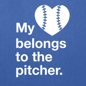 My heart belongs to the pitcher. - Tote Bag