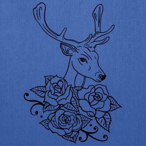 Deer with roses, Oktoberfest - Tote Bag