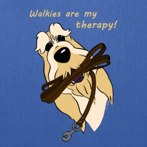 Walkies are my therapy! - Tote Bag