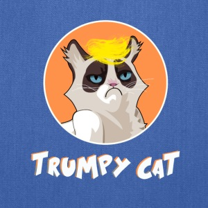 trumpy cat funny joke kitty president grump blond - Tote Bag