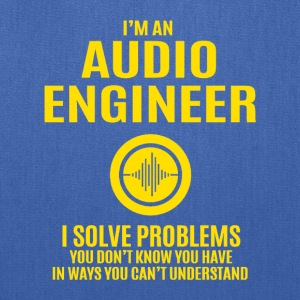 Audio Engineer Solve Problems Design Shirt - Tote Bag