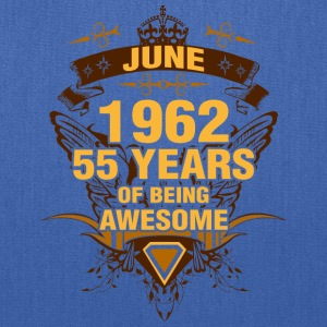June 1962 55 Years of Being Awesome - Tote Bag