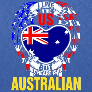 I Live In The Us But My Heart Is In Australian - Tote Bag