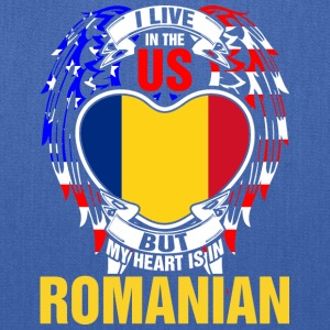 I Live In The Us But My Heart Is In Romanian - Tote Bag