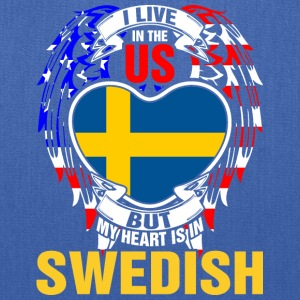 I Live In The Us But My Heart Is In Swedish - Tote Bag