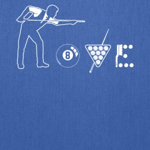 Billiard love shirt - Tote Bag