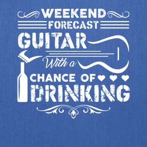 Weekend Forecast Guitar Shirt - Tote Bag
