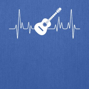 Acoustic Guitar Heartbeat Shirt - Tote Bag