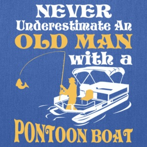 Old Man With A Pontoon Boat T Shirt - Tote Bag