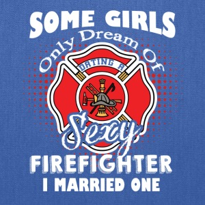 FIREFIGHTER WIFE TEE SHIRT - Tote Bag