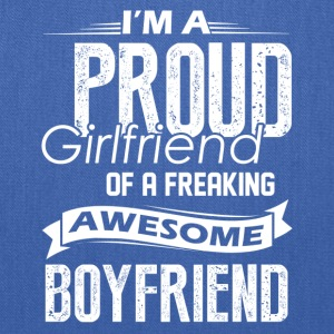 Proud Girlfriend Of A Awesome Boyfriend Shirt - Tote Bag