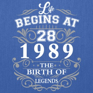 Life begins at 28 1989 The birth of legends - Tote Bag