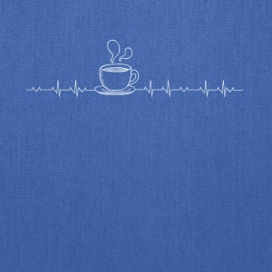 Coffee heartbeat lover - Tote Bag