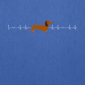 Dachshund heartbeat lover - Tote Bag