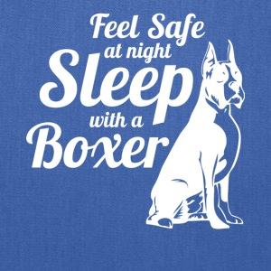 Feel Safe At Night Sleep With A Boxer Dog - Tote Bag