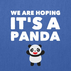 we are hoping it's a panda - Tote Bag