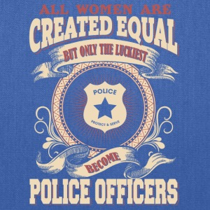 The Luckiest Women Become Police Officers - Tote Bag