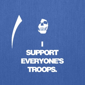 Death supports everyone's troops - Tote Bag